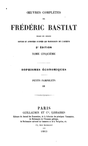 Bastiat oc vol5 1863 tp