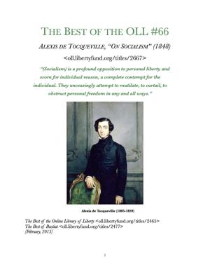 Tocqueville socialism1848 tp