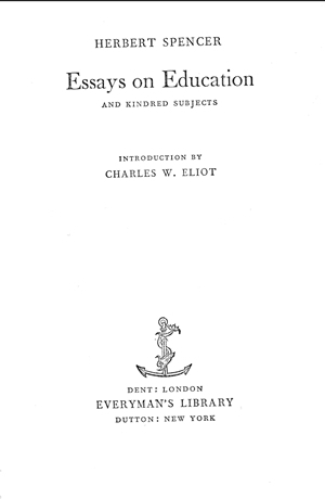 essays on education and kindred subjects   online library of