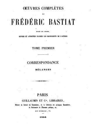 Bastiat oeuvres 1561.01 tp