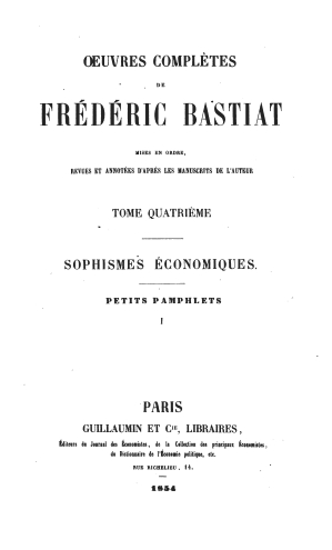 Bastiat oeuvres 1561.04 tp