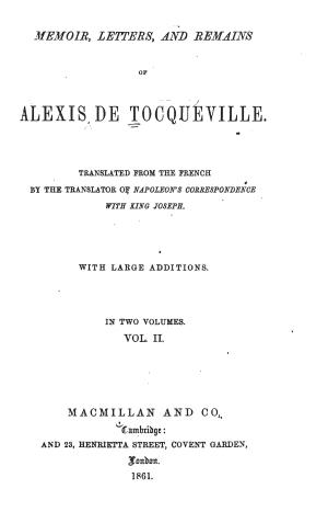 Tocqueville memoir1601.02 tp