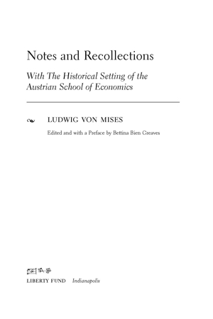 Mises recollections tp