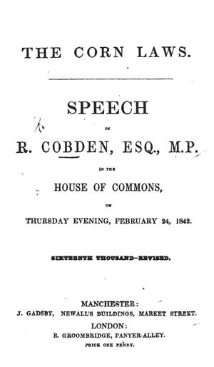 Cobden cornlawsspeech1654 tp