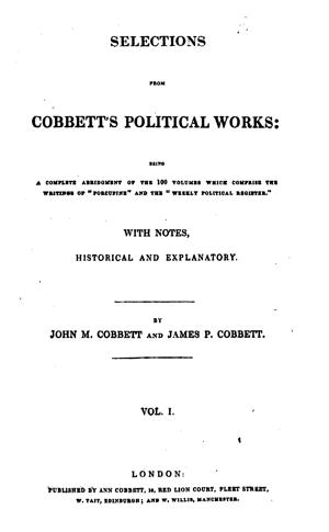 Cobbett 1627 01 tp