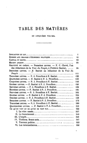 Bastiat oc vol5 1863 toc