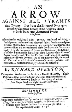 Overton an arrow against all tyrants tp300