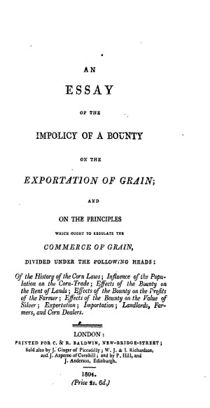 essay on trade and commerce 1770