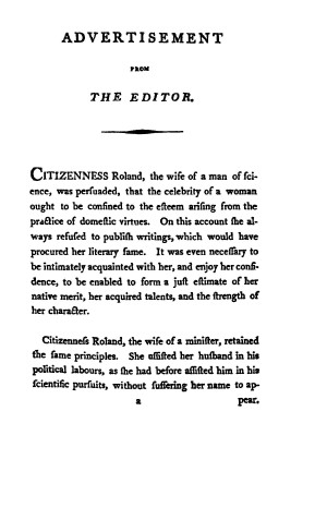 An Appeal to Impartial Posterity by Citizenness Roland vol 1
