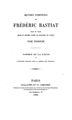 Bastiat oeuvres 1561.03 tp