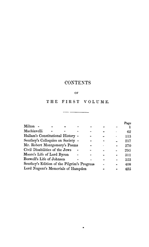 Critical And Historical Essays Vol 1 Online Library Of Liberty