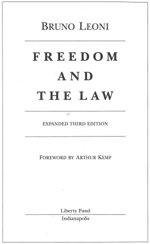 Freedom and the Law (LF ed ) - Online Library of Liberty