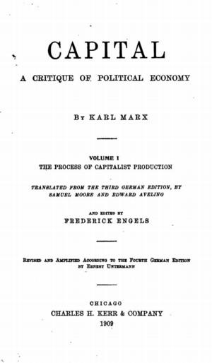 Capital A Critique of Political Economy Volume I The